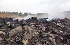 Máy bay C-130E duy nhất của quân đội Ethiopia bốc cháy vì trúng đạn