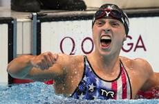 Huyền thoại K.Ledecky thắng áp đảo ở nội dung bơi 1.500m tự do nữ