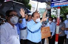[Video] Chủ tịch nước thăm, động viên người dân Thành phố Hồ Chí Minh