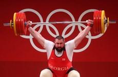 Olympic Tokyo 2020: Vận động viên Talakhadze phá kỷ lục cử tạ thế giới