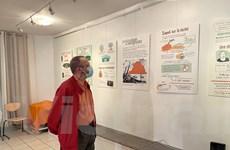 Tranh đồ họa về chất độc da cam Việt Nam lần đầu được triển lãm ở Pháp