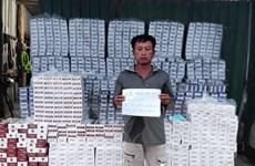 Bắt giữ tàu vận chuyển 26.500 bao thuốc lá lậu ở vùng biển Kiên Giang