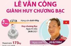 Lê Văn Công giành huy chương Bạc cử tạ Paralympic Tokyo 2020