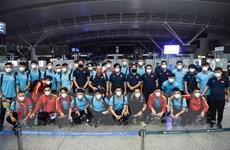 Đội tuyển Việt Nam về nước, chuẩn bị cho trận gặp Australia