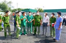 Bộ Công an kiểm tra việc phòng cháy ở khu cách ly, bệnh viện dã chiến