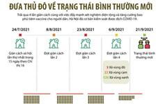 [Infographics] Đưa Thủ đô Hà Nội về trạng thái bình thường mới