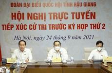 Ông Trần Thanh Mẫn tiếp xúc cử tri Hậu Giang theo hình thức trực tuyến