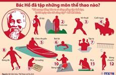 [Infographics] Bác Hồ đã tập những môn thể thao nào?