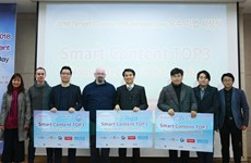 Trao giải 'Ngày hội Kinh doanh nội dung thông tin 2018' tại Hàn Quốc