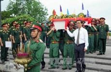Tổ chức truy điệu, an táng 21 hài cốt liệt sỹ hy sinh tại Campuchia