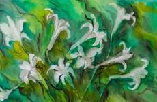 """Triển lãm """"Hoa vô ưu"""": Mong con người sống thanh thản"""