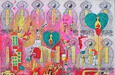 """Triển lãm """"Âm"""": Họa sỹ vẽ một """"thế giới khác"""" bằng vàng mã"""