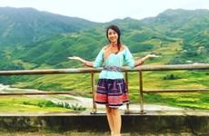 Tân Hoa hậu Đỗ Mỹ Linh quảng bá du lịch cho thị trấn sương mù Sa Pa
