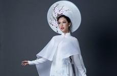Phương Linh công bố trang phục dân tộc tại cuộc thi Miss International