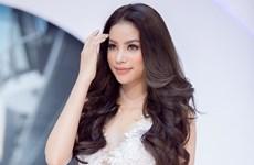 Hoa hậu Phạm Hương siêu gợi cảm với đầm ren trắng xuyên thấu