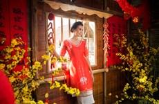Siêu mẫu Thanh Hằng gợi ý cách chọn áo dài cách tân diện Tết