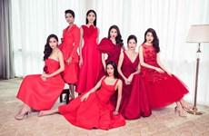 Các thế hệ người đẹp Hoa hậu Hoàn vũ Việt Nam đỏ rực đón năm mới