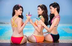 Hút mắt với top 3 Hoa hậu Việt Nam trong trang phục bikini nóng bỏng