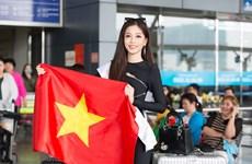 Á hậu Phương Nga lên đường dự thi Miss Grand International 2018
