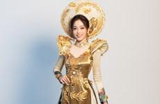 Ngắm quốc phục của Phương Nga tại cuộc thi Miss Grand International
