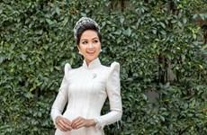 [Photo] H'Hen Niê đẹp tinh khôi làm đại sứ hình ảnh lễ hội áo dài