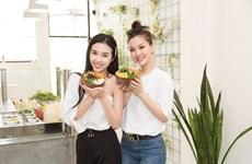 Dàn Á hậu 'khoe' bí quyết giữ dáng chuẩn với đồ ăn có lợi cho sức khỏe