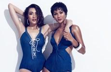 Hoa hậu H'Hen Niê-Á hậu Lệ Hằng khoe thân hình nóng bỏng với bikini