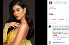 Miss Grand International: Á hậu Kiều Loan dẫn đầu top bình chọn online