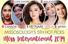 Tường San dẫn đầu bảng xếp hạng trên chuyên trang sắc đẹp Misosology
