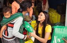 Top 3 Hoa hậu Hoàn vũ mang ''Tết nhân ái'' đến bà con nghèo Bảo Lộc