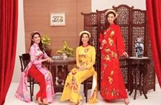 [Photo] Top 3 Hoa hậu Hoàn vũ Việt Nam rạng ngời đón Xuân