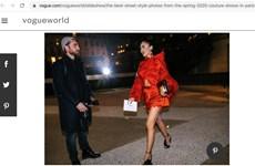 Thiết kế của nhà tạo mốt Việt xuất hiện ấn tượng trên Vogue World