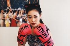Hoa hậu Khánh Vân hài hước với phong cách boxing 'bà má nội trợ'