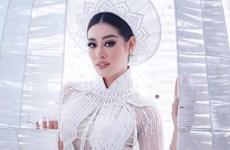 Khánh Vân trình diễn 'Kén Em' trước khi lên đường thi Miss Universe