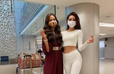 Những hình ảnh đầu tiên của Hoa hậu Khánh Vân tại Miss Universe