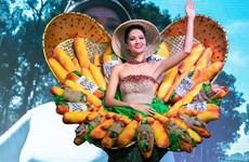 'Bánh Mỳ' lọt top 10 trang phục dân tộc ấn tượng nhất Miss Universe