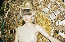 Thùy Tiên ấn tượng với tạo hình công chúa 'xứ sở chùa vàng'