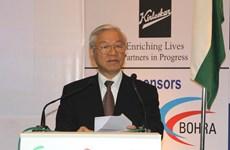 Tổng Bí thư: Việt Nam chào đón các nhà đầu tư Ấn Độ