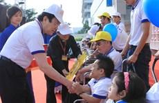 Chủ tịch nước tham gia chương trình đi bộ vì người khuyết tật