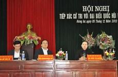 Các lãnh đạo tiếp xúc cử tri tỉnh Bắc Ninh, Thái Bình