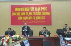 Phó Thủ tướng Nguyễn Xuân Phúc làm việc tại Quân khu 2