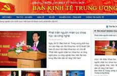 Khai trương trang thông tin điện tử tổng hợp Ban Kinh tế TW