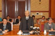 Tổng Bí thư làm việc với Thường trực Hội đồng Lý luận TW