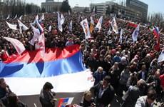 Ukraine: Đài truyền hình Donetsk bị tấn công bởi nhóm lạ mặt