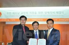 Hoban tài trợ 30 triệu won cho Hội người Việt tại Hàn Quốc