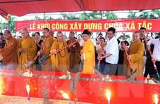Cầu nguyện hòa bình cho Biển Đông và động thổ xây chùa Xã Tắc