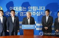 Hai lãnh đạo đảng đối lập chính tại Hàn Quốc xin từ chức