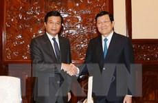 Chủ tịch nước Trương Tấn Sang tiếp Đại sứ Lào chào từ biệt