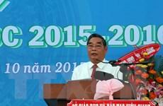 Ông Lê Hồng Anh dự khai giảng tại Trường Đại học Kiên Giang
