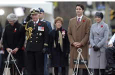 Canada bắn 21 phát đại bác trong lễ tưởng niệm các binh sỹ